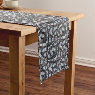 Shades of Blue Kaleidoscope Short Table Runner