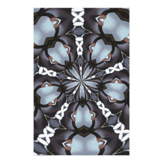 Shades of Blue Kaleidoscope Stationery