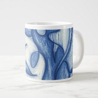 Shades of Blue Large Coffee Mug