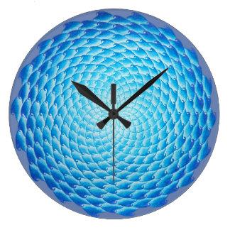 Shades of Blue Mandala Wall Clock