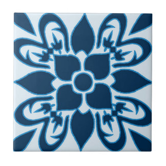 Shades of Blue Moroccan Patterned Tile