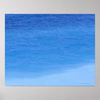 Shades of blue ocean, Rhodos, Greece Poster