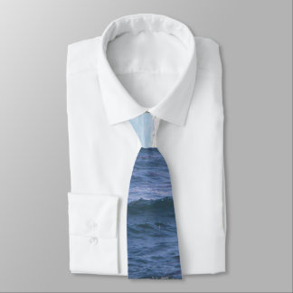 Shades of blue ocean theme necktie