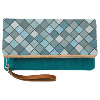 Shades of blue pattern clutch