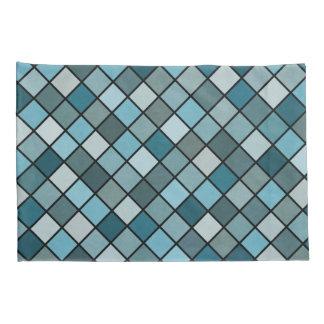 Shades of blue pillowcase