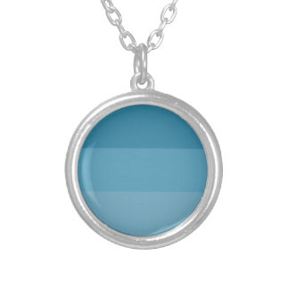 Shades of blue silver plated necklace