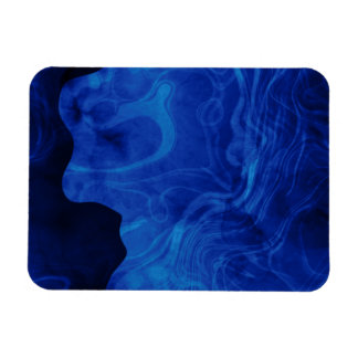 Shades of Blue Smoke Flexible Magnets