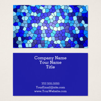 Shades Of Blue Stained Glass by Shirley Taylor Business Card