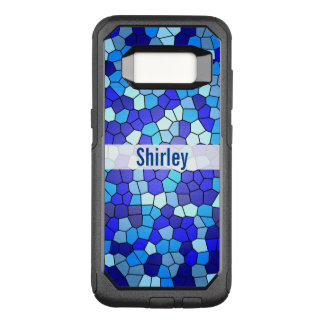 Shades of Blue Stained Glass by Shirley Taylor OtterBox Commuter Samsung Galaxy S8 Case