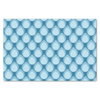 Shades of Blue Teardrop Geometric Pattern Tissue Paper