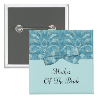 Shades Of Blue Velvet Look Wedding 2 Inch Square Button
