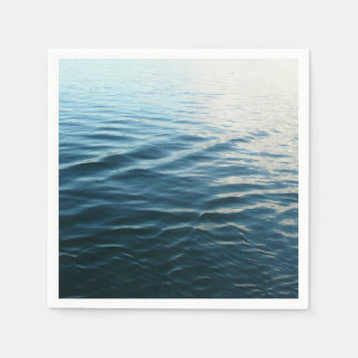 Shades of Blue Water Abstract Nature Photography Napkin