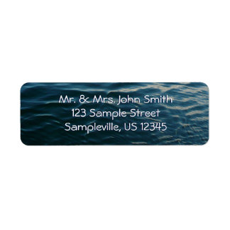 Shades of Blue Water Abstract Nature Photography Return Address Label