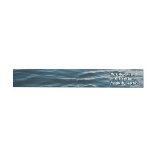 Shades of Blue Water Abstract Nature Photography Wrap Around Label