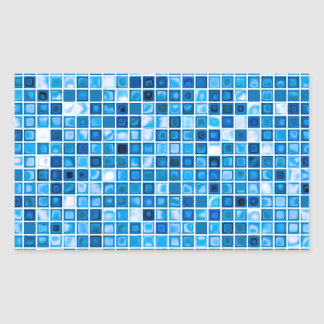 Shades Of Blue 'Watery' Mosaic Tiles Pattern