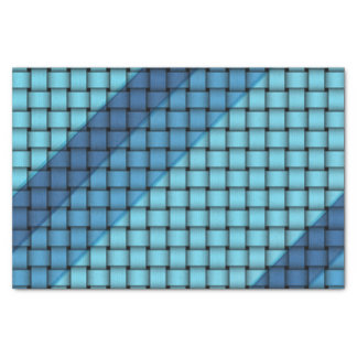 Shades of Blue Weave - Tissue Paper