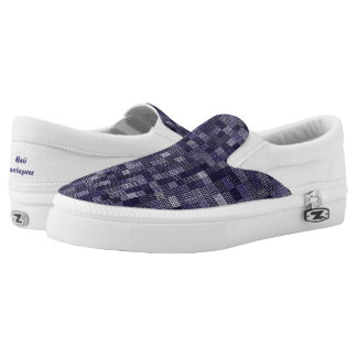 Shades Of Blueberry Slip-On Sneakers