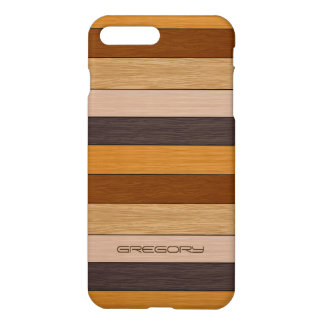 Shades Of Brow Wood Stripes Pattern iPhone 7 Plus Case