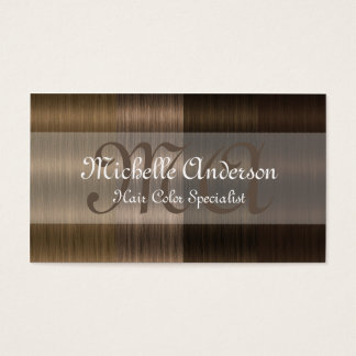Shades of Brown Hair 2 Salon Business Cards