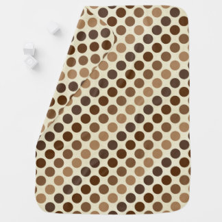 Shades of Brown Polka Dots by Shirley Taylor Baby Blanket