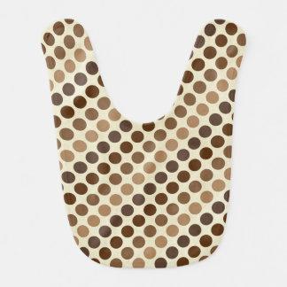Shades of Brown Polka Dots by Shirley Taylor Bib
