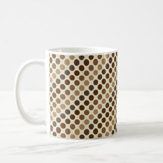 Shades of Brown Polka Dots by Shirley Taylor Coffee Mug