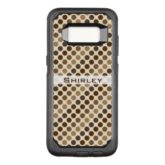 Shades of Brown Polka Dots by Shirley Taylor OtterBox Commuter Samsung Galaxy S8 Case