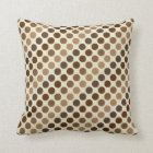 Shades Of Brown Polka Dots by Shirley Taylor Throw Pillow