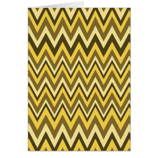 Shades of Brown Zig Zag Design Card