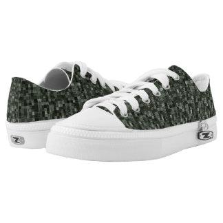 Shades Of Deep Murky Ocean Green Low-Top Sneakers
