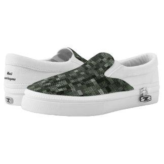 Shades Of Deep Murky Ocean Green Slip-On Sneakers