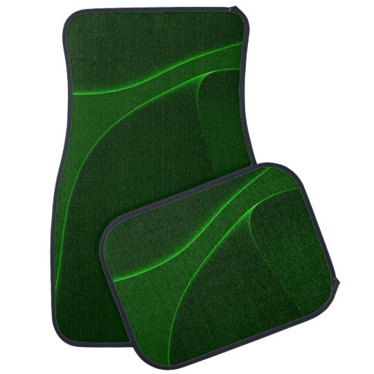 Shades Of Electric Aurora Green Floor Mat