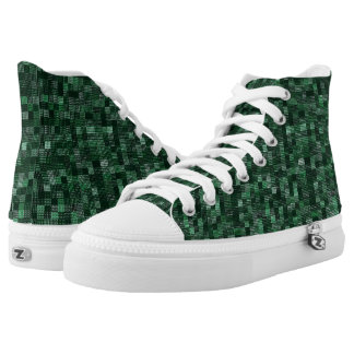 Shades Of Emerald High Tops