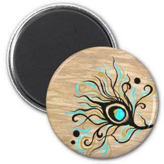 Shades of Feathers 2 Inch Round Magnet