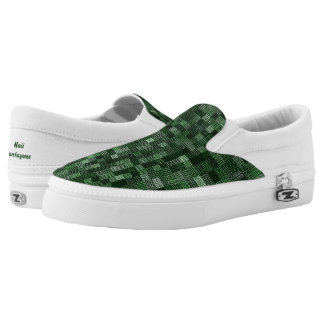 Shades Of Forest Green Slip-On Sneakers