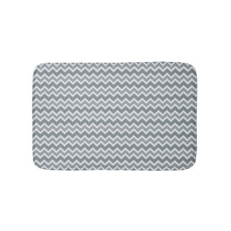 Shades of Gray Chevron Striped Bath Mats