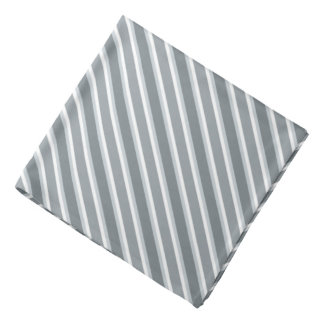 Shades of Gray Diagonal Stripes Bandana