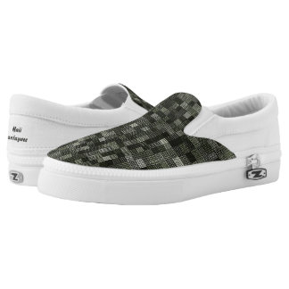 Shades Of Gray Green Slip-On Sneakers