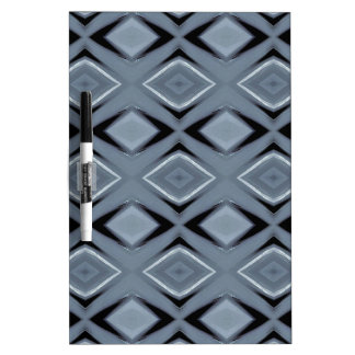 Shades of Gray Modern Geometric Pattern Dry Erase Board
