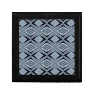Shades of Gray Modern Geometric Pattern Trinket Box