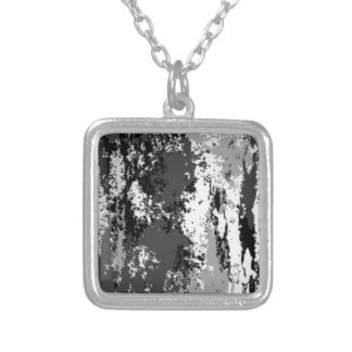 Shades of Gray Silver Plated Necklace