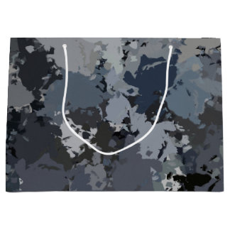 Shades of Gray Splatter Large Gift Bag