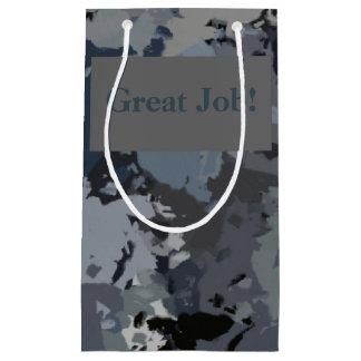 Shades of Gray Splatter Small Gift Bag
