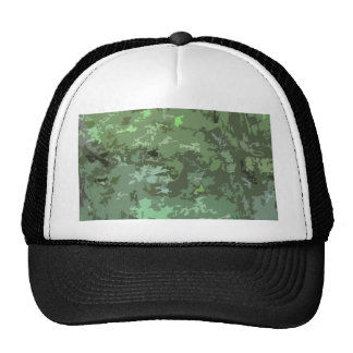 Shades of Green Camo Abstract Nature Camouflage Trucker Hat