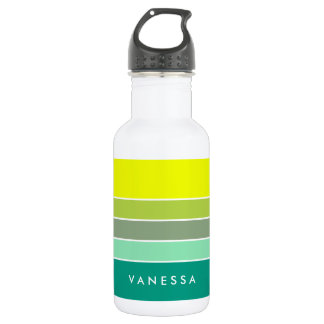 Shades of Green Color Palette 001 532 Ml Water Bottle