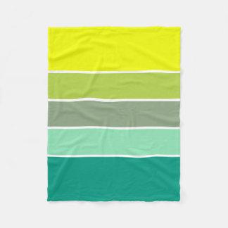 Shades of Green Color Palette 001 Fleece Blanket