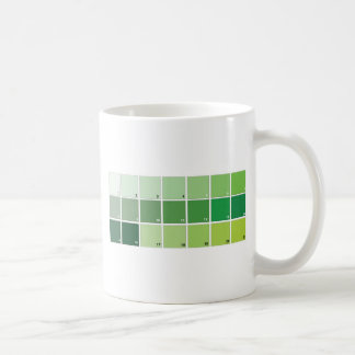 Shades of Green Grid Coffee Mug