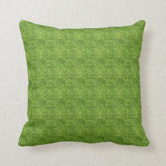 Shades of Green Mosaic Pattern Throw Pillow