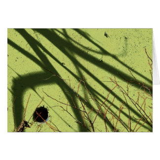 shades of green note card