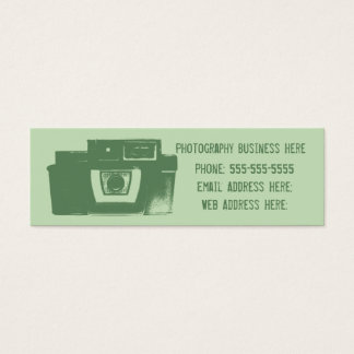 Shades of Green Retro Film Camera Business Card